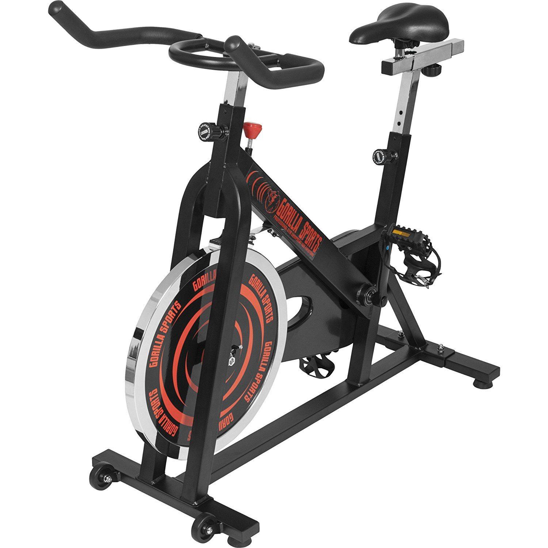 Spinning Bike Indoor Cycling Fahrrad von Gorilla Sports in der Frontansicht