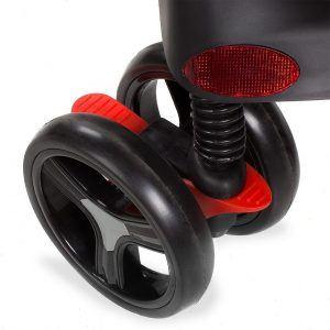 Kinderwagen RANGER S4-2 Gepolsterter 5-Punkt Sicherheitsgurt Schwarz Rad