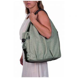 Lässig LNB601 Wickeltasche Green Label Neckline Bag, black mélange Test]