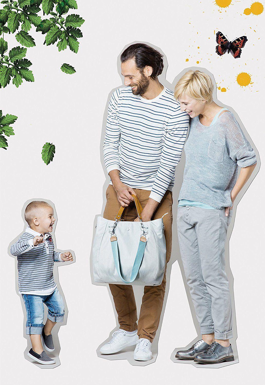 Lässig Wickeltasche Green Label Mix'n Match Bag mit mehreren verstellbaren Schultergurten inkl. Wickelzubehör, light grey Baby