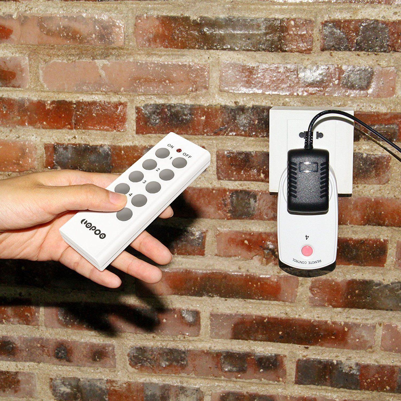 LOPOO Funksteckdosen Set Smart Steckdose Aus 5 X Funksteckdosen Und 2 X Fernbedienung 30m Reichweite Steuerung Mit 2 Remote