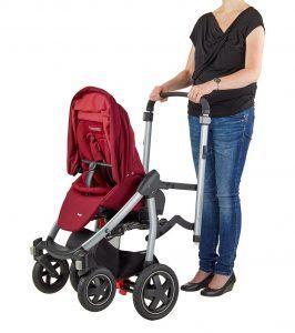 Maxi-Cosi Stella Kinderwagen mit extra großem Verdeck und Outdoor-Reifen, extrem wendig und in Kombination mit Babyschale oder Babywanne ab der Geburt nutzbar (0-15 kg), beige