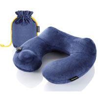 Metene Reisekissen, angenehm weiches, aufblasbares, stützendes, leichtes Nackenkissen für bequemen Schlaf