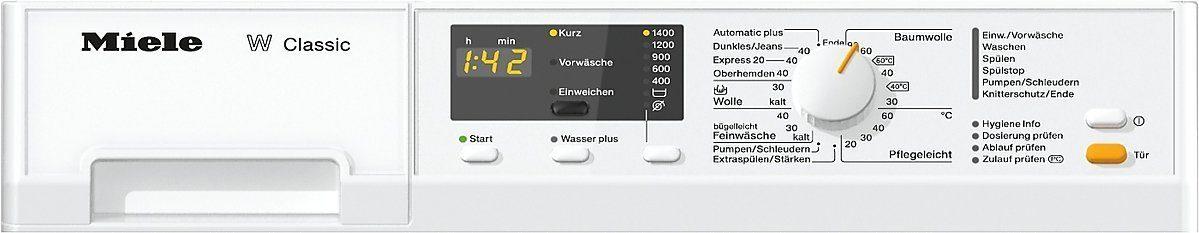 Das Bedienelement der Miele WDA 110 WCS Waschmaschine