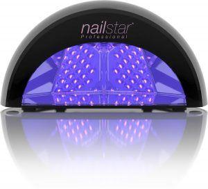 NailStar® Professioneller LED-Nageltrockner Nagellampe für Shellac und Gelnagellack Lichthärtegerät mit Timer, Tragbares Härtungsgerät für Maniküre, Aushärtungslampe für Fingernägel - Schwarz