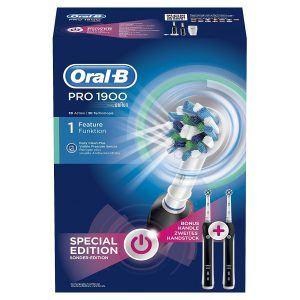 Oral-B Pro 1900 Elektrische Zahnbürste, mit Timer, CrossAction Aufsteckbürste