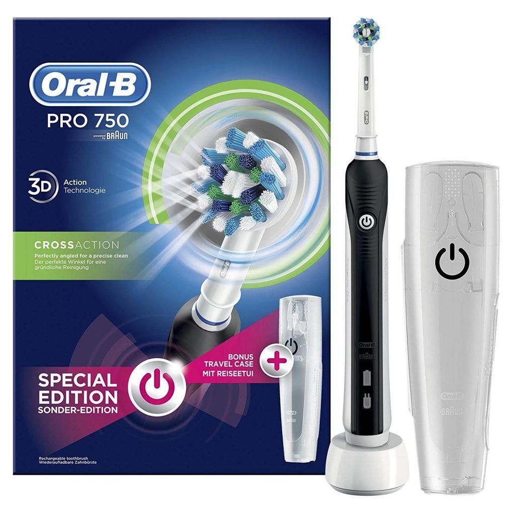 Elektrische Zahnbürste Oral-B Pro 750 in der Box