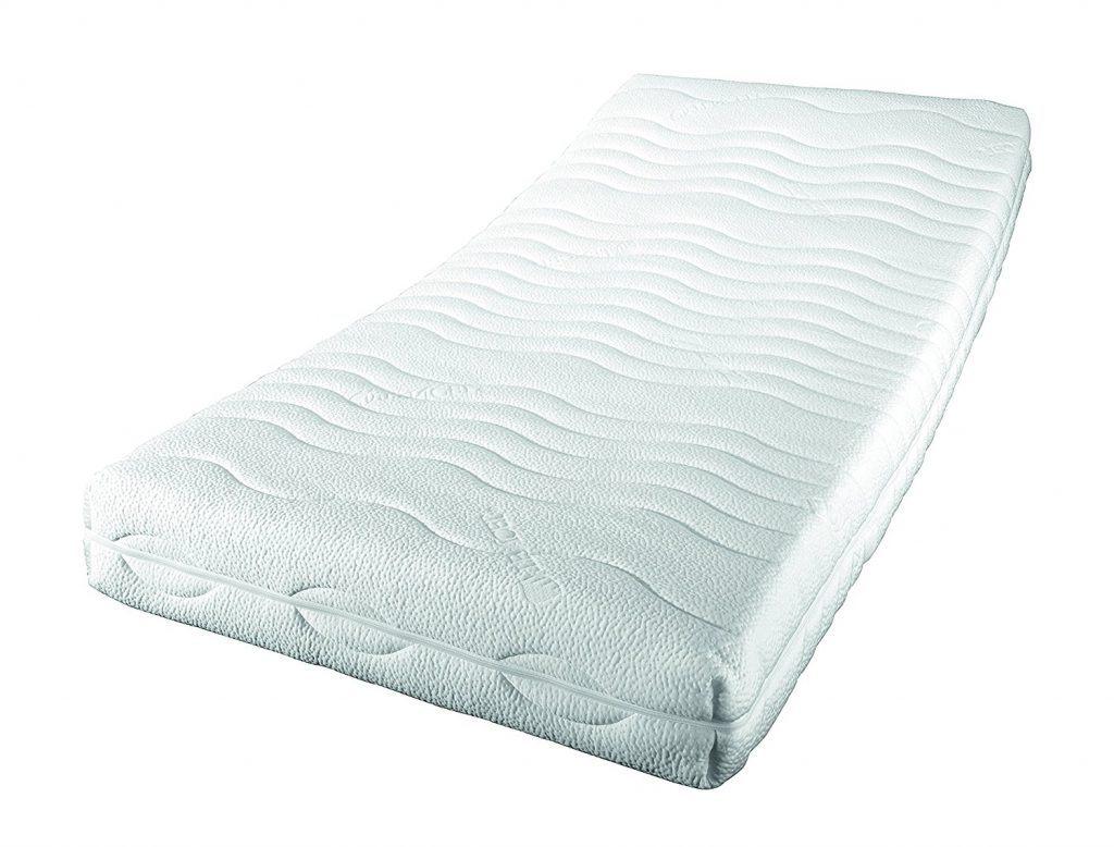 Sleepdream H%C3%A4rtegrad 2 Premium KS 7 Zonen Komfortschaum Matratze Polyester Viskose Weiss 200 X 140 X 21 Cm