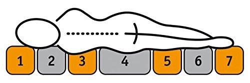 Sleepdream H%C3%A4rtegrad 2 Premium KS 7 Zonen Komfortschaum Matratze Polyester Viskose Weiss 200 X 140 X 21 Cm.