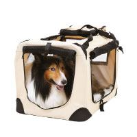 Songmics S - XXXL Hundebox faltbar Oxford Gewebe Katzenbox Hundetransportbox