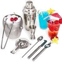 TecTake® Cocktailshaker Cocktail Set 8-teilig Shaker Bar Mixer im Vergleich
