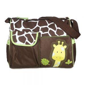 Tinksky Multifunktionale Mumie Handbag Baby Windel Windel wechselnde Tasche Giraffe Muster