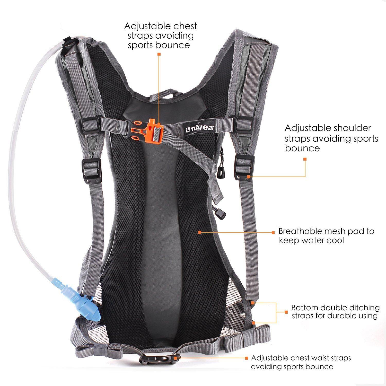 Trinkrucksack Hydrationspack Mit 2L Trinkblase Für Joggen Wandern Radfahren Camping Und Bergsteigen