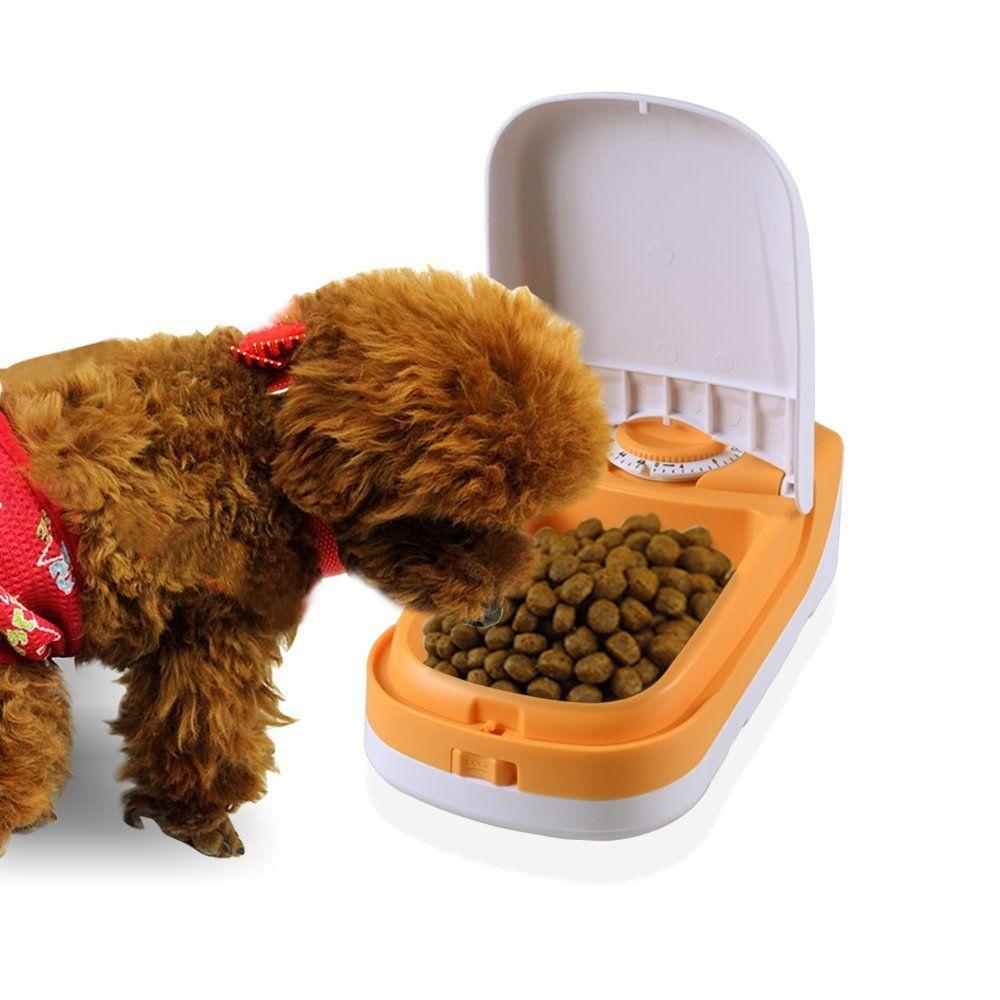 Wopet Haustier Automatisierte Futterspender Futterautomat Mit Timer F%C3%BCr Katzen Und Hunde Leicht Kombinierbar1 Mahlzeit