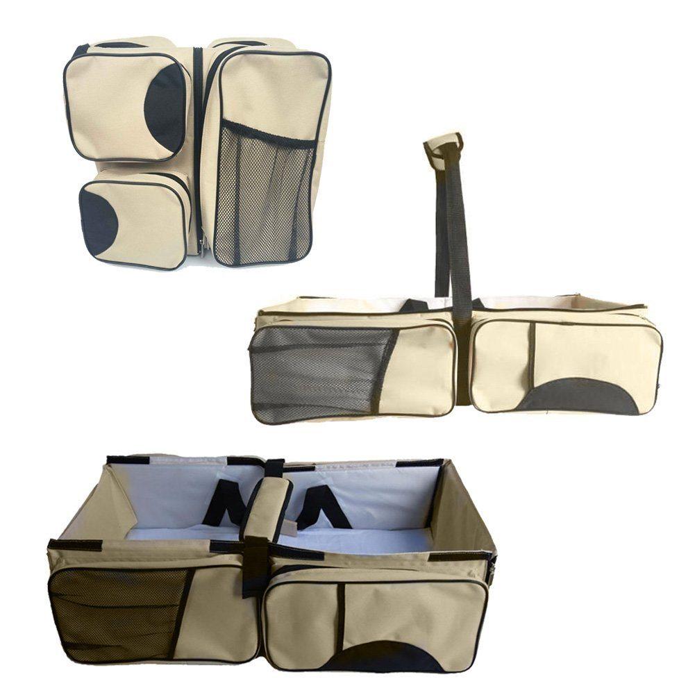 Zanza 3 in 1-Wickeltasche, Mehrzweck-Tasche, für Reisen, für Stubenwagen, für Babys und Kleinkinder, für Windeln, als Tragebettchen und Wickeltisch, tragbar