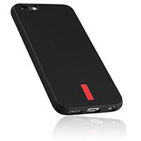 mumbi 6-TPU-sw-Streifen-rt iPhone 6 6s Hülle Test