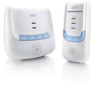 Babyphone Eco Control Dect266 von Nuk mit Kinder und Elternteil