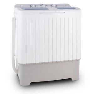 oneConcept Ecowash XXL Waschmaschine Mini Waschmaschine (6,8 kg Waschkapazität, 400 Watt Waschleistung, 5,2 kg Schleuderkapazität, 110 Watt Schleuderleistung, 2 Programme) weiß [Energieklasse B]