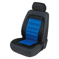 Walser 16591 Beheizbare Sitzauflage Sitzheizung Warm UP mit Thermostat, Schwarz/Blau