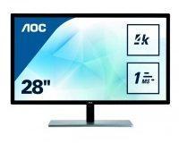 AOC U2879VF 71,1 cm (28 Zoll) Monitor (VGA, DVI, HDMI, DisplayPort, 3840 x 2160, 60 Hz, 1ms Reaktionszeit, 4k) schwarz