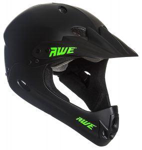 AWE® BMX Full Face Helm schwarz, Größe M 54–58 cm
