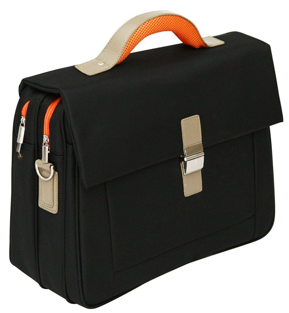 Aktentasche Weiche Schultertasche F%C3%BCr Die Arbeit Geeignet F%C3%BCr Laptops Bis 156 Orangefarbene Details