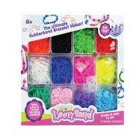 BUSDUGA-700203---Loom-Bänder-Set-&-Clips,-4.200-Stück,-mit-fluoreszierenden-Neonfarben!