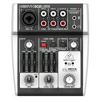 Behringer XENYX 302USB 5-Input Mixer mit XENYX Mic Preamp und eingebautem USB Audio Interface