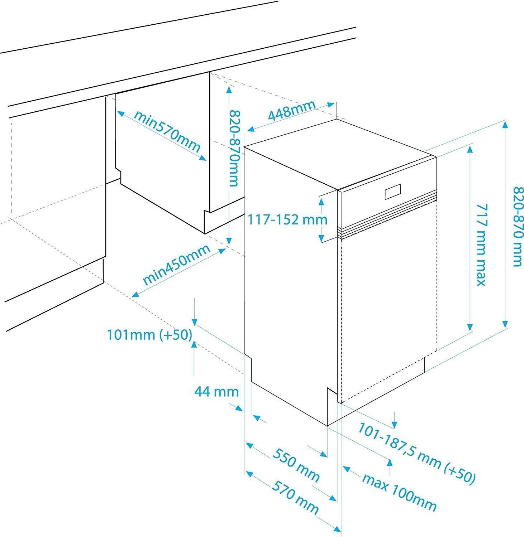 Beko DSS 4530 X Teilintegrierbarer Geschirrspüler