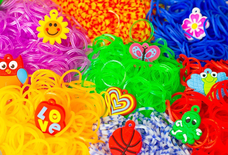 Blinky Loom XXL Bänder Kit , Set mit 24 Farben 5200 Loom Bands