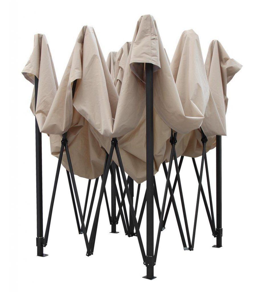 Brandneuer Hochwertiger Strapazierf%C3%A4higer Faltpavillon 3 X 3 Meter PVC Beschichtet F%C3%BCr Einen Sekundenschnellen Aufbau