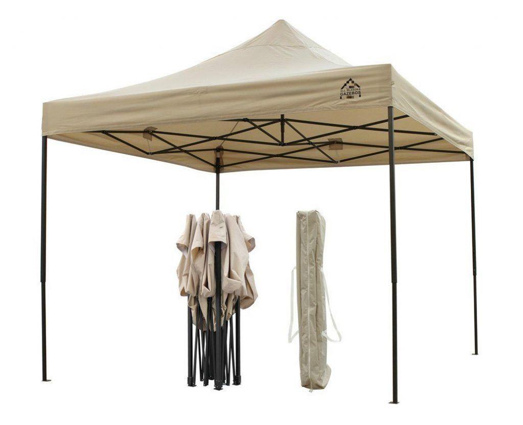Brandneuer Hochwertiger Strapazierf%C3%A4higer Faltpavillon 3 X 3 Meter PVC Beschichtet F%C3%BCr Einen Sekundenschnellen Aufbau..