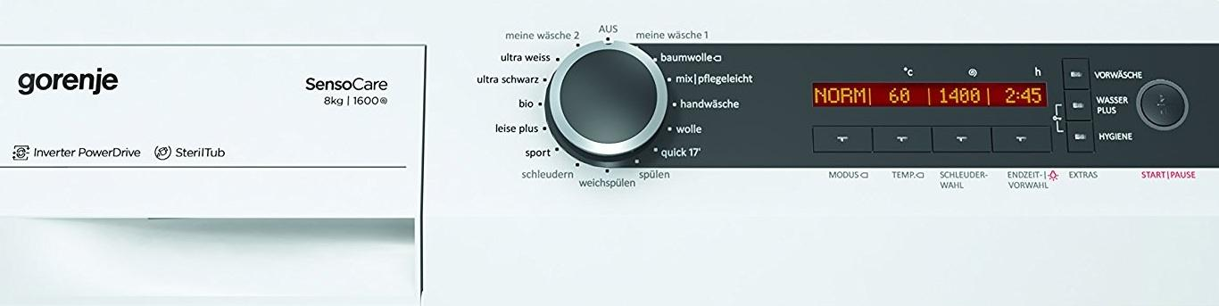 Das Bedienelement der Gorenje W8665I-I Waschmaschine FL in der Frontansicht