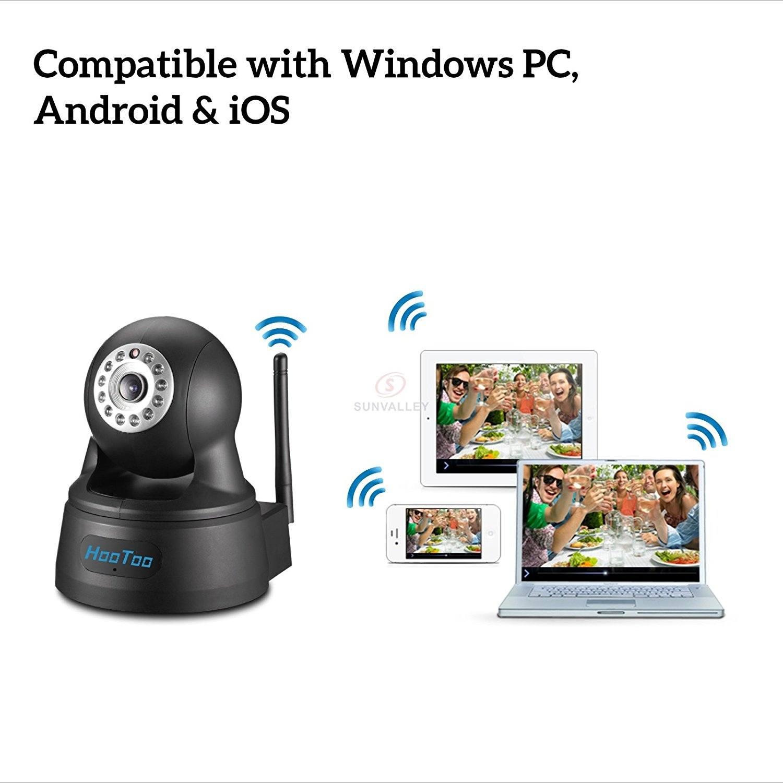 HooToo IP Kamera Ueberwachungskamera Megapixel HD 1280 x 720p APP