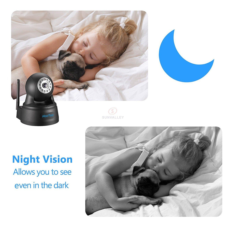 HooToo IP Kamera Ueberwachungskamera Megapixel HD 1280 x 720p Night