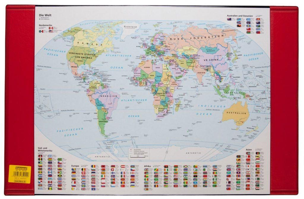 Idena 350105 Schreibunterlage Weltkarte
