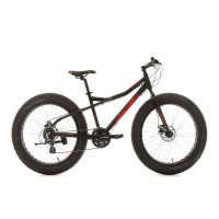 KS Cycling Fahrrad Mountainbike 26 Fatbike SNW2458 Aluminiumrahmen schwarz