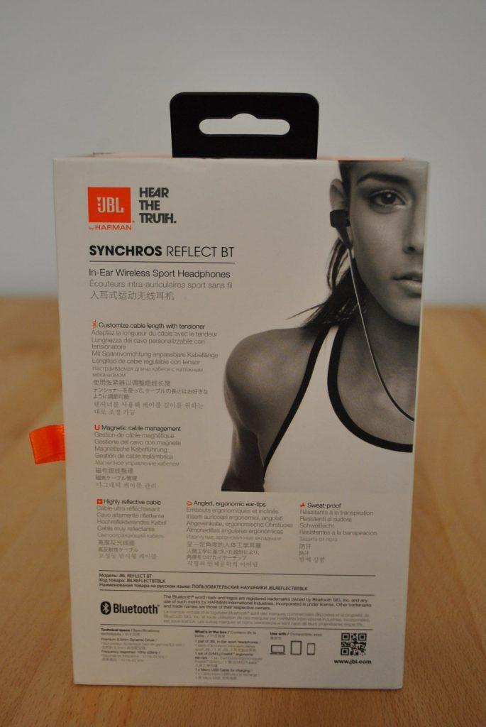 In ear Kopfhörer JBL3 Verpackungsrückseite im Test