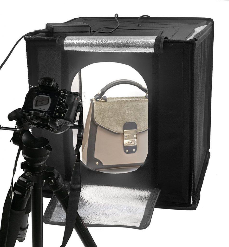 LED Lichtw%C3%BCrfel Mini Fotostudio Life Of Photo LFV 770 70x70x70cm Leistung 65W Produktfotografie