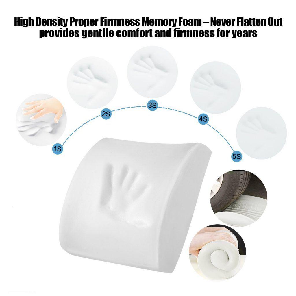 LoveHome Memory Foam Lendenwirbelst%C3%BCtze R%C3%BCckenpolster Mit 3D Mesh Cover