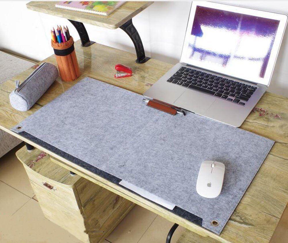 Multifunktionale Felt Schreibtisch Matte SUNNIOR Laptop Tastatur Mausunterlage F%C3%BCr Haus Und B%C3%BCroGrau