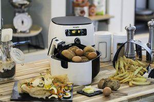 Philips Airfryer Turbostar HD9640-00 Heißluftfritteuse das Original, knusprige Pommes mit bis zu 80% weniger Fett