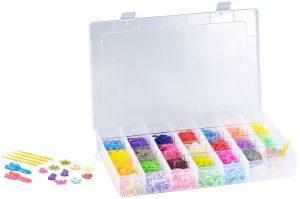 Playtastic Gummibänder-Set zum Häkeln & Basteln, 21 Farben, 2262 Teile