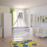 Polini Kids Babybett Gitterbett Kinderbett Simple 101 aus Naturholz