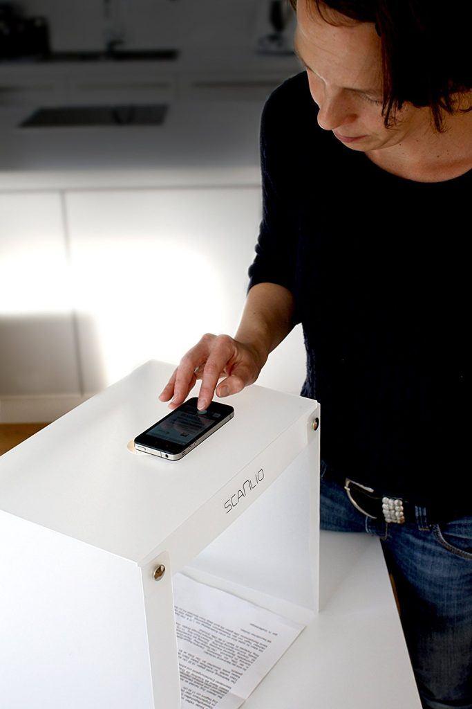 SCANLIO Mobiles Fotostudio Faltbarer Scan Stand
