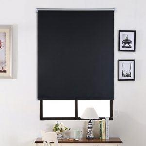 SHINY HOME® Klemmrollo Abdunkeln Rollo Verdunkelungsrollo mit Klemmträgern Lichtundurchlässig für Fenster ohne Bohren