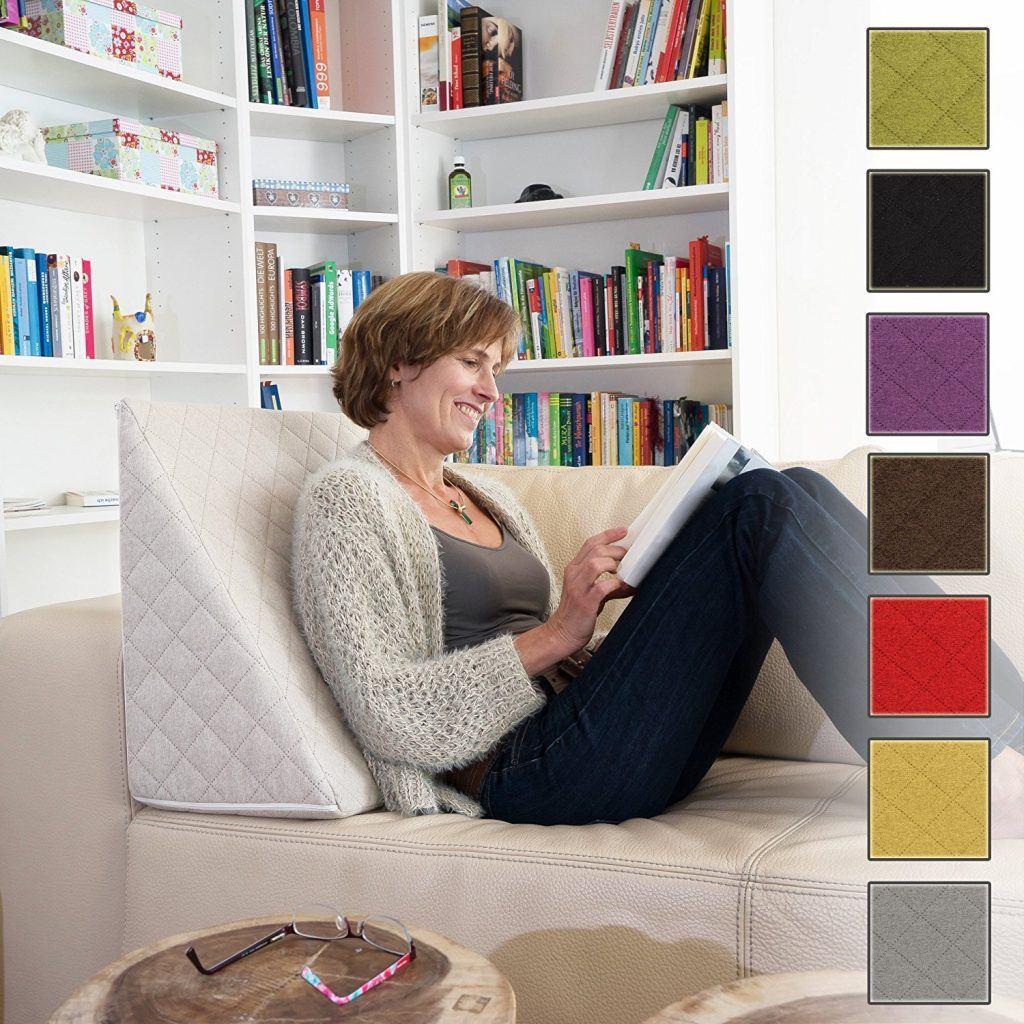 Sabeatex%C2%AE R%C3%BCckenkissen Keilkissen F%C3%BCr Couch Und Sofa Lesekissen F%C3%BCr Bequemes Sitzen. 5 Unifarben F%C3%BCr Trendiges Wohndesign