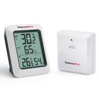 Thermopro TP60 Funk Thermo Hygrometer, Klima-Monitor mit Funk-Außensensor