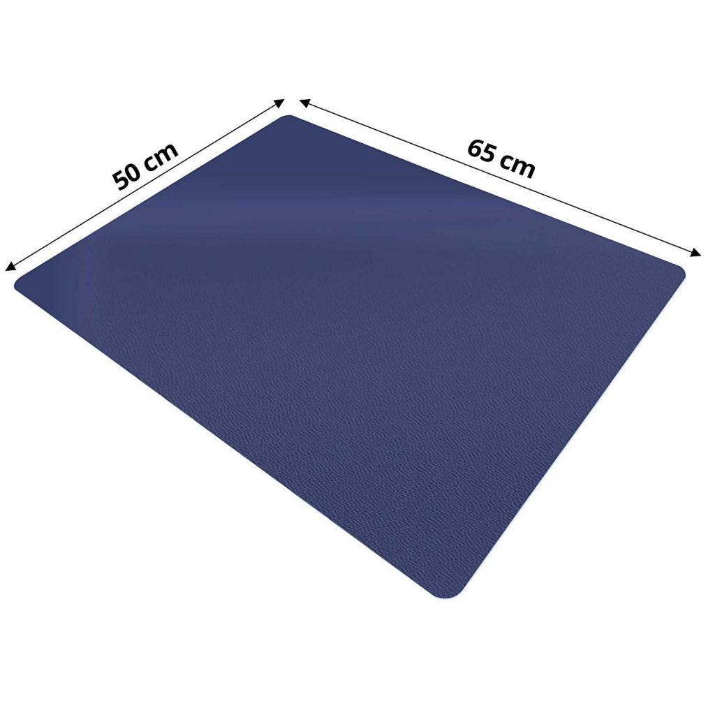 Trendige Schreibtischunterlage Dunkelblau Abwischbar PVC Frei 65 X 50 Cm