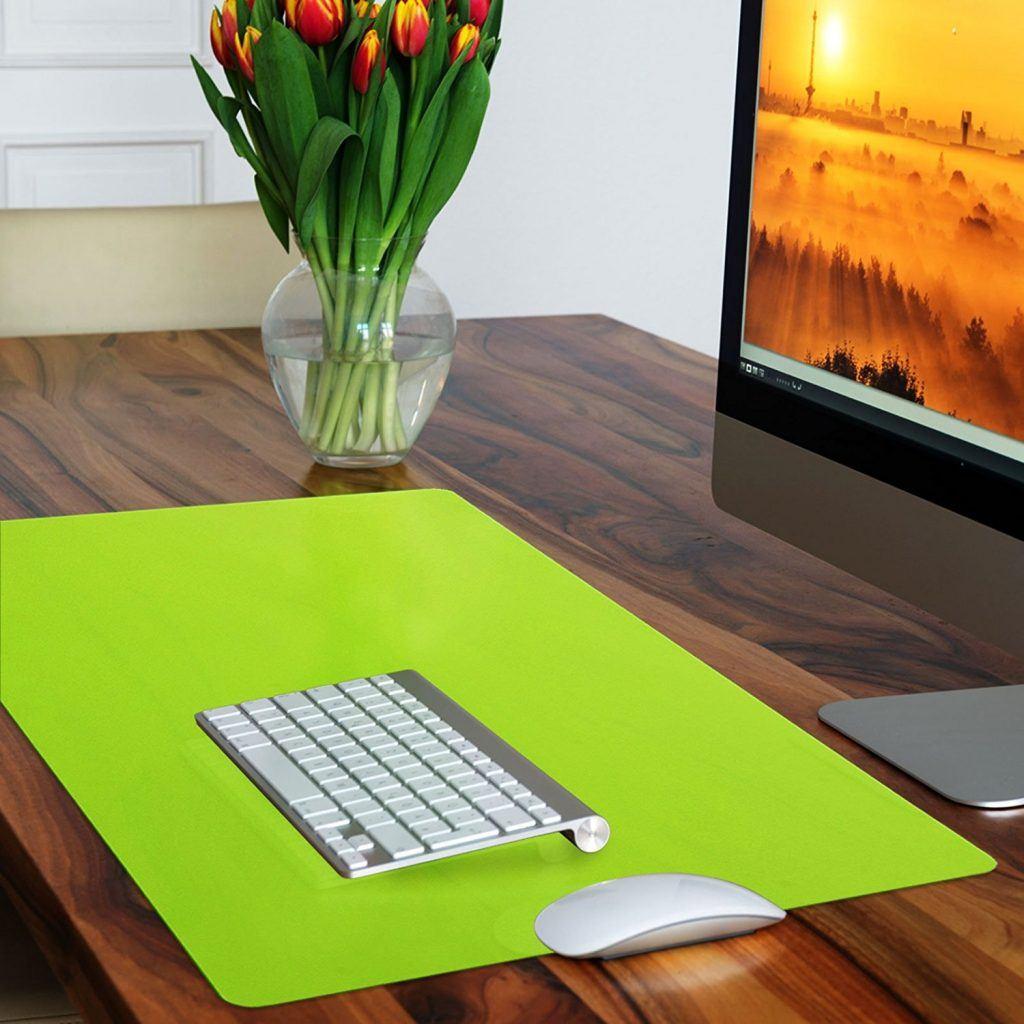 Trendige Schreibtischunterlage Hellgr%C3%BCnabwischbar PVC Frei 65 X 50 Cm